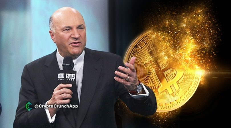 Kevin O'Leary says he wants to more than double his crypto holdings to 7%