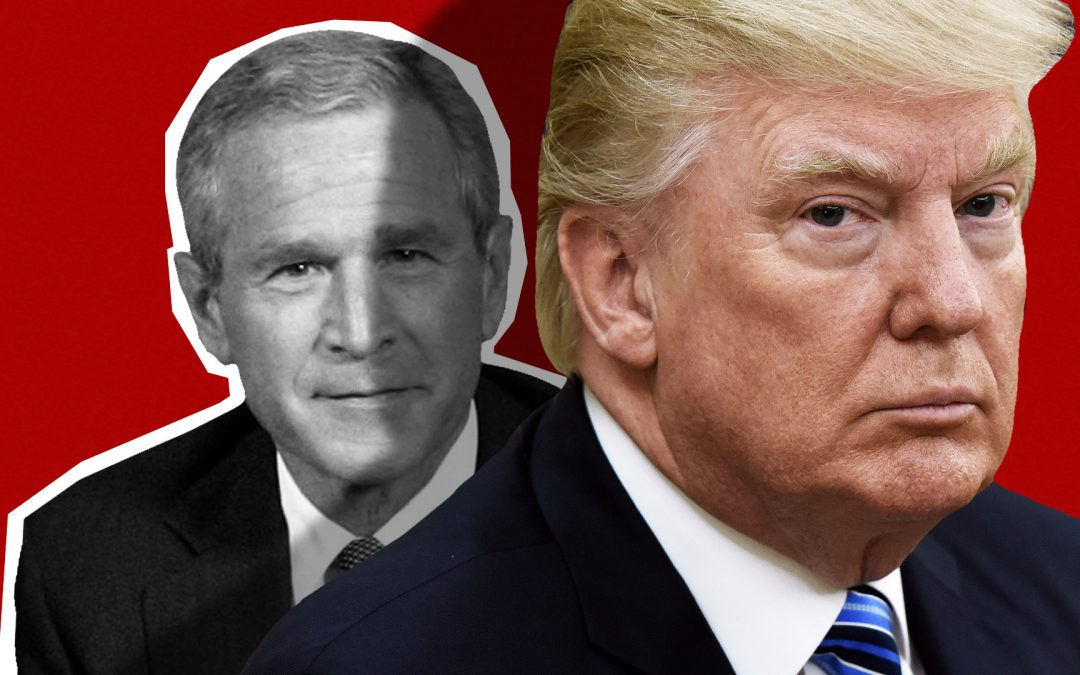 Trump rips Bush for backing Cheney as Republican factions butt heads